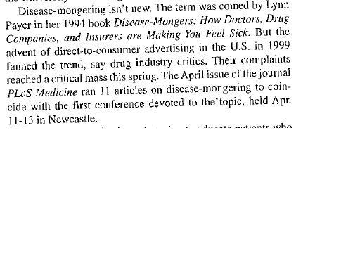 Disease mongering 2