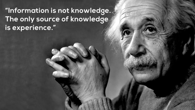 Experience not knowledge